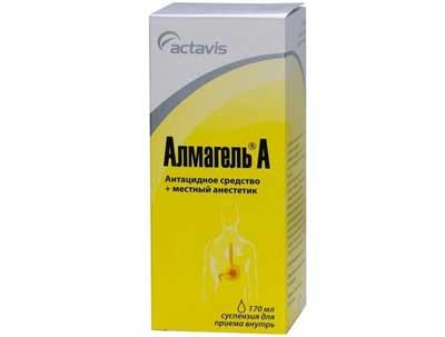 антацидное средство Альмагель