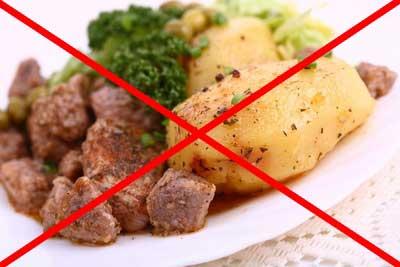 нельзя есть жирную пищу