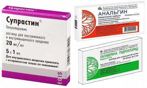 Высокую температуру тела, головную боль, спазмы поможет устранить тройчатка - Анальгин, Папаверин и Супрастин